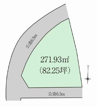 芦屋市浜風町土地 28番 地形図
