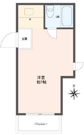 ダイドーメゾン西宮北口Ⅳ(2階部分・16.17㎡) 間取り