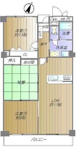 朝日ケ丘アーバンライフ(4階部分・90.17㎡) 間取り
