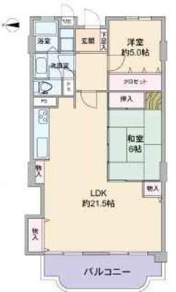 グランドハイツ甲陽園(10階部分・74.40㎡) 間取り