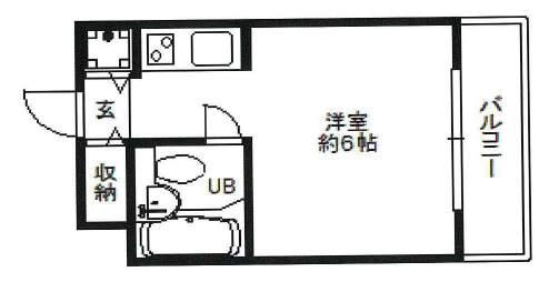 ダイドーメゾン上甲子園(3階部分・17.76㎡) 間取り