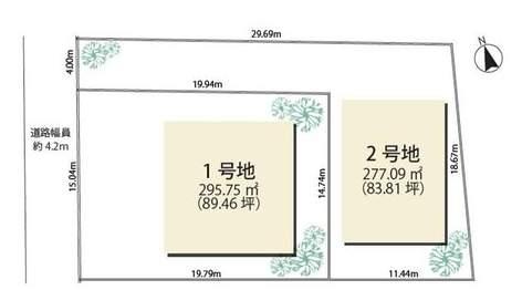 西宮市殿山町土地2号地 5番 地形図