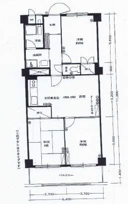 北広田アーバンライフ(5階部分・61.02㎡) 間取り