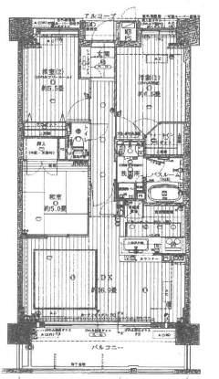 ワコーレ芦屋ディアハウス(4階部分・73.24㎡) 間取り