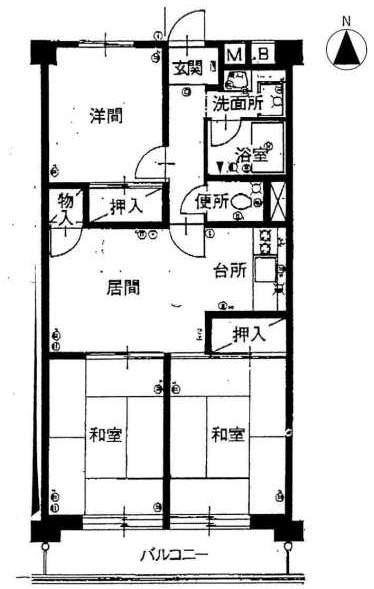 シャンボール芦屋(1階部分・53.69㎡) 間取り
