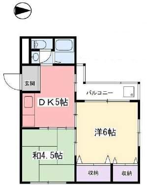 浦風ハイツ(3階部分・32.28㎡) 間取り