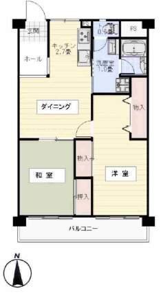 鳴尾小松住宅B棟(2階部分・56.07㎡) 間取り
