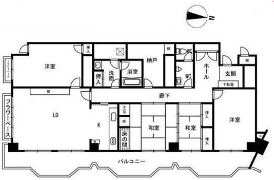 ゾンネンハイム芦屋(8階部分・156.56㎡) 間取り