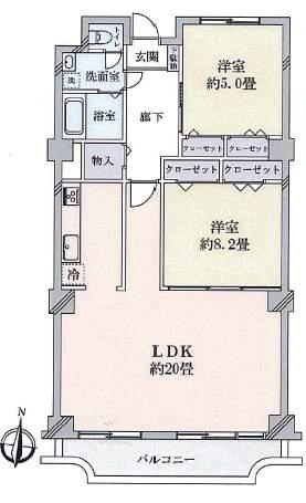 ローズハイツ芦屋(7階部分・83.20㎡) 間取り