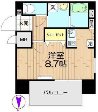 ダイドーメゾン阪神西宮(3階部分・26.52㎡) 間取り