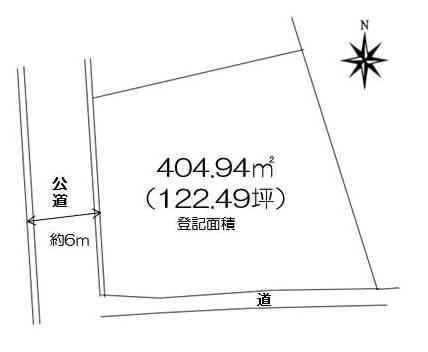 芦屋市山芦屋町土地(404.94㎡) 地形図