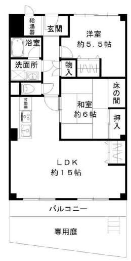ハイム甲子園(1階部分・70.85㎡) 間取り