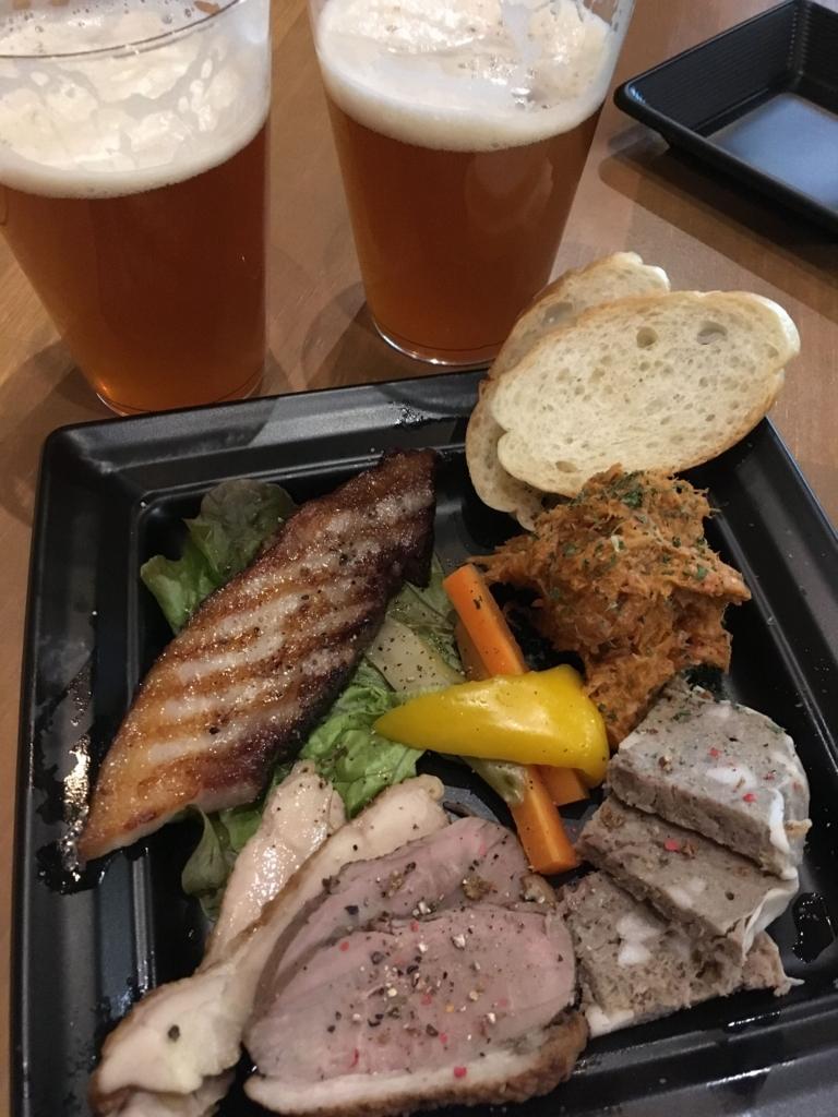 ビール工房 新宿の肉料理、盛り合わせ