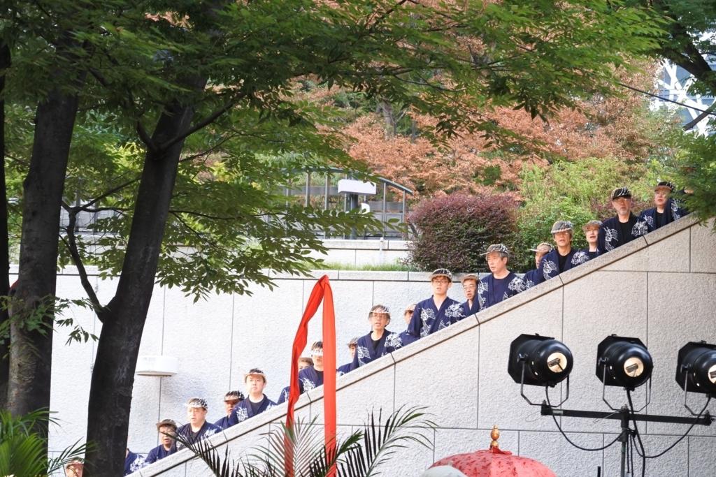 芸能山城組「ケチャまつり」2018(西新宿・三井ビルディング 55HIROBA)、男声合唱