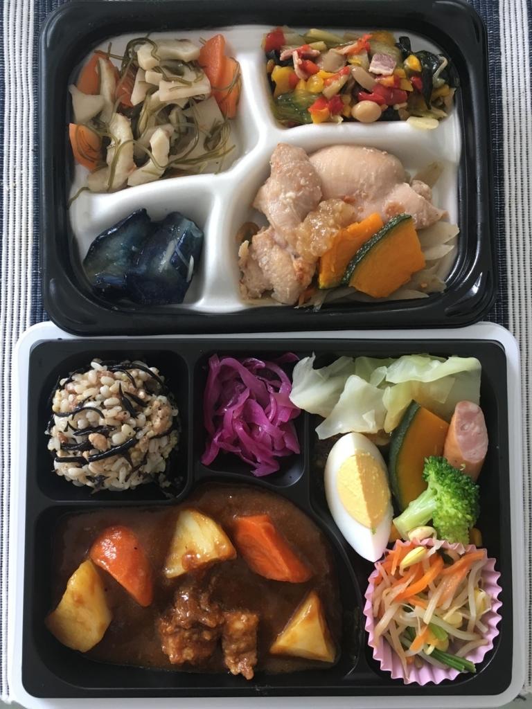 セブンミールの健康バランス惣菜と15品目のお惣菜セット