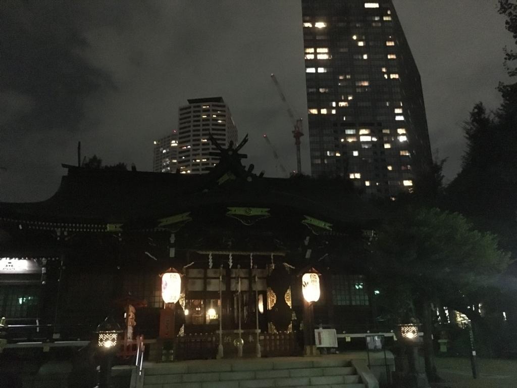 十二社熊野神社から、西新宿の高層ビル側の風景