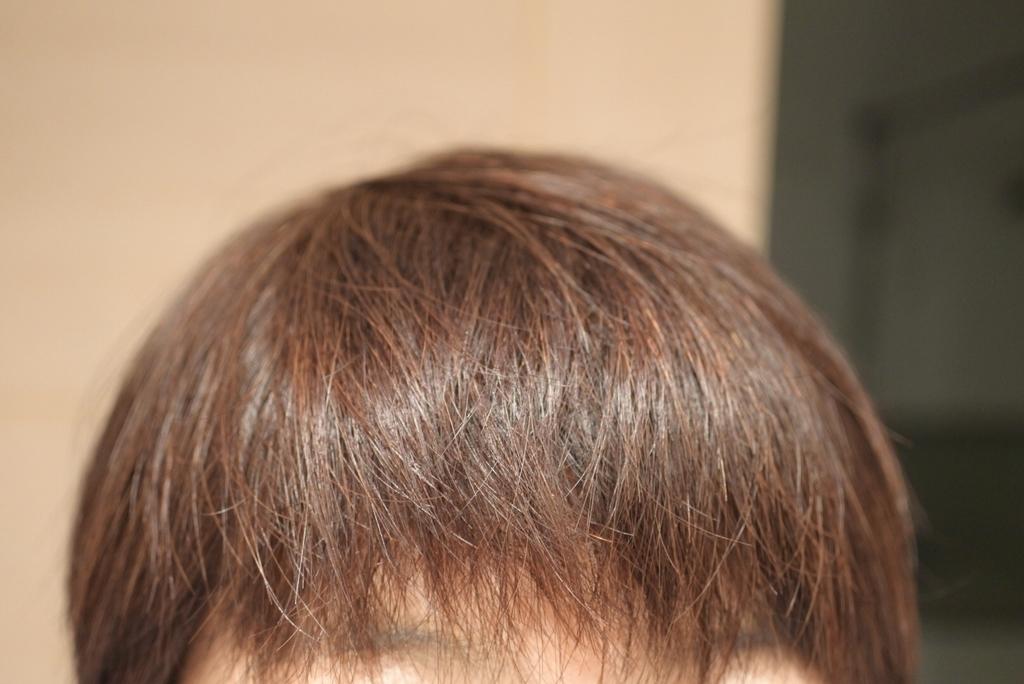 haru kurokamiスカルプ(黒髪スカルプ)で洗った後の髪のツヤ
