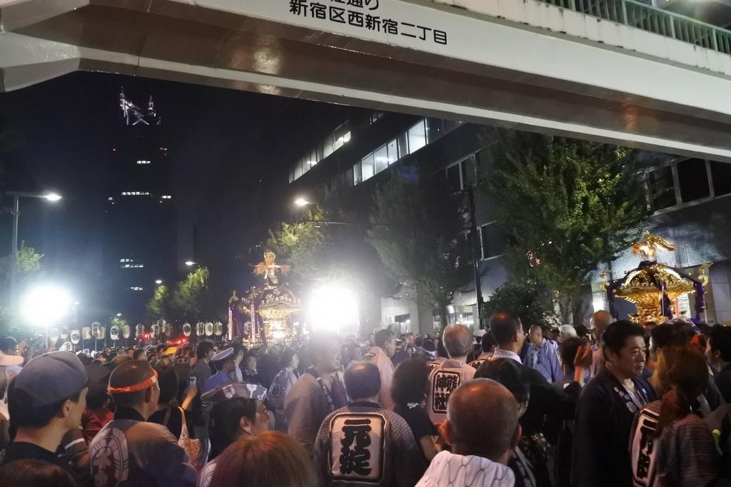熊野神社例大祭(新宿)2018、熊野神社前での式典