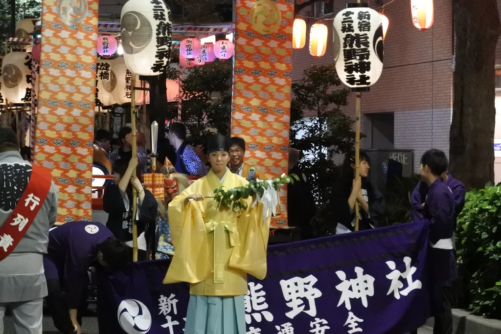熊野神社例大祭(新宿)2018、十二社通り