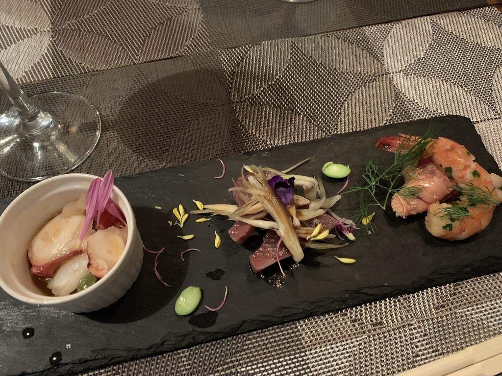 西新宿フレンチ「プロヴァンサル」、食べログ限定オープン記念特別コースのアミューズ盛り合わせ