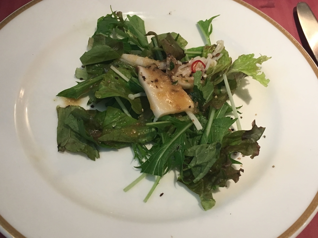 サンマルクレストラン 新宿(小田急ハルク内にある、ベーカリーレストラン)のサラダ