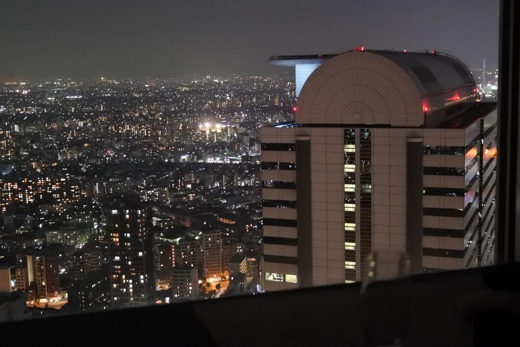 個室会席「北大路 新宿茶寮」 (西新宿・住友ビル)の個室席からの夜景