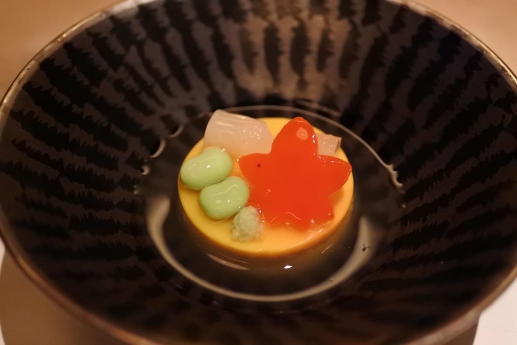 個室会席「北大路 新宿茶寮」 (西新宿・住友ビル)、四季会席(8,500円)の南京豆腐