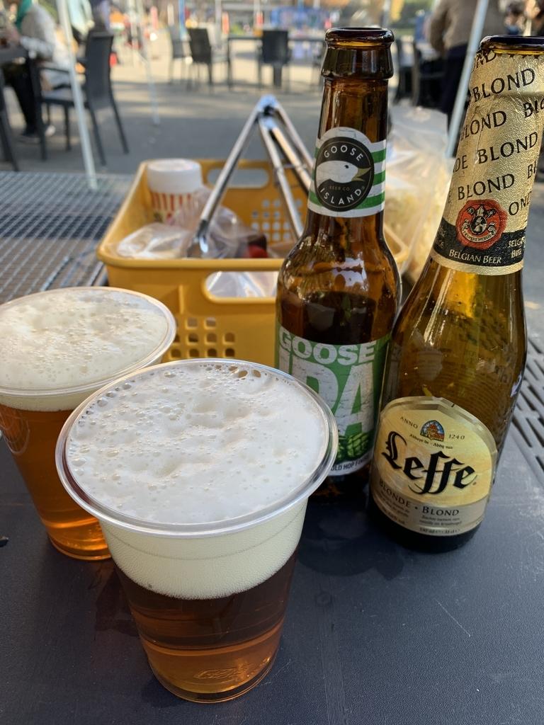 新宿中央公園でバーベキュー!「秋のソトメシフェア 手ぶらでBBQ」で飲んだ2種類のビール