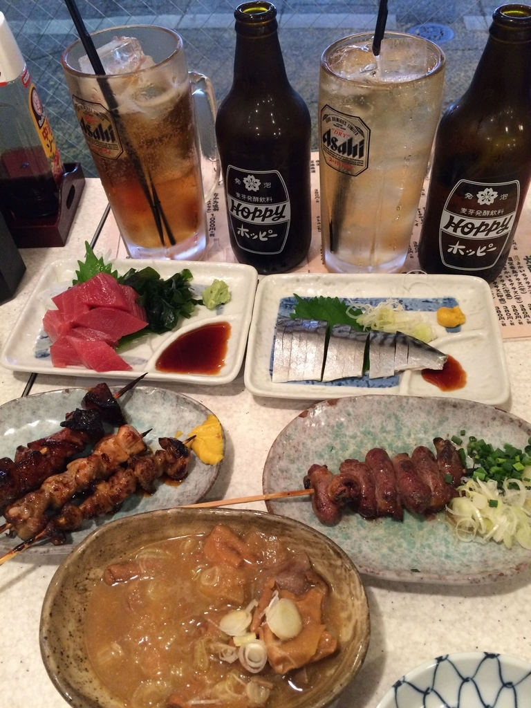 アカマル屋 新宿西口店のホッピーと一品料理