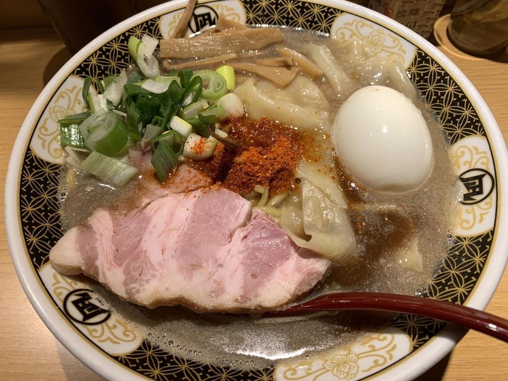 西新宿「すごい煮干しラーメン凪 西新宿七丁目店」の、こってり煮干し