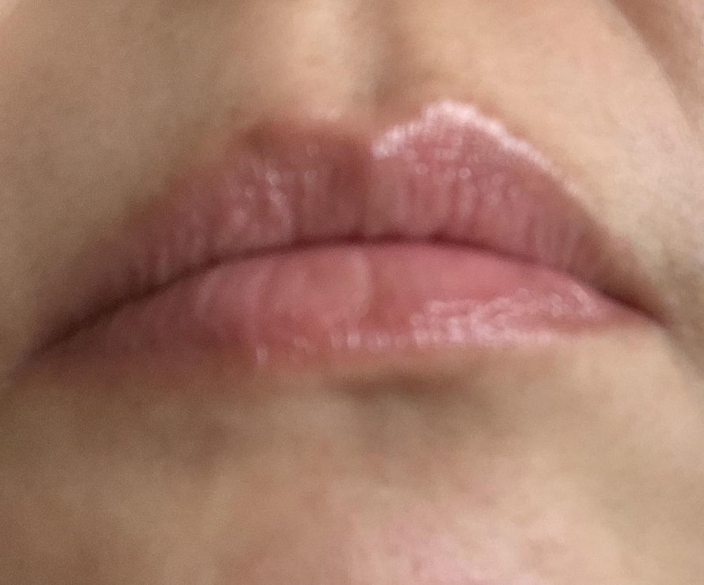 DHCリップケア ティント(クリア)を塗る前の唇