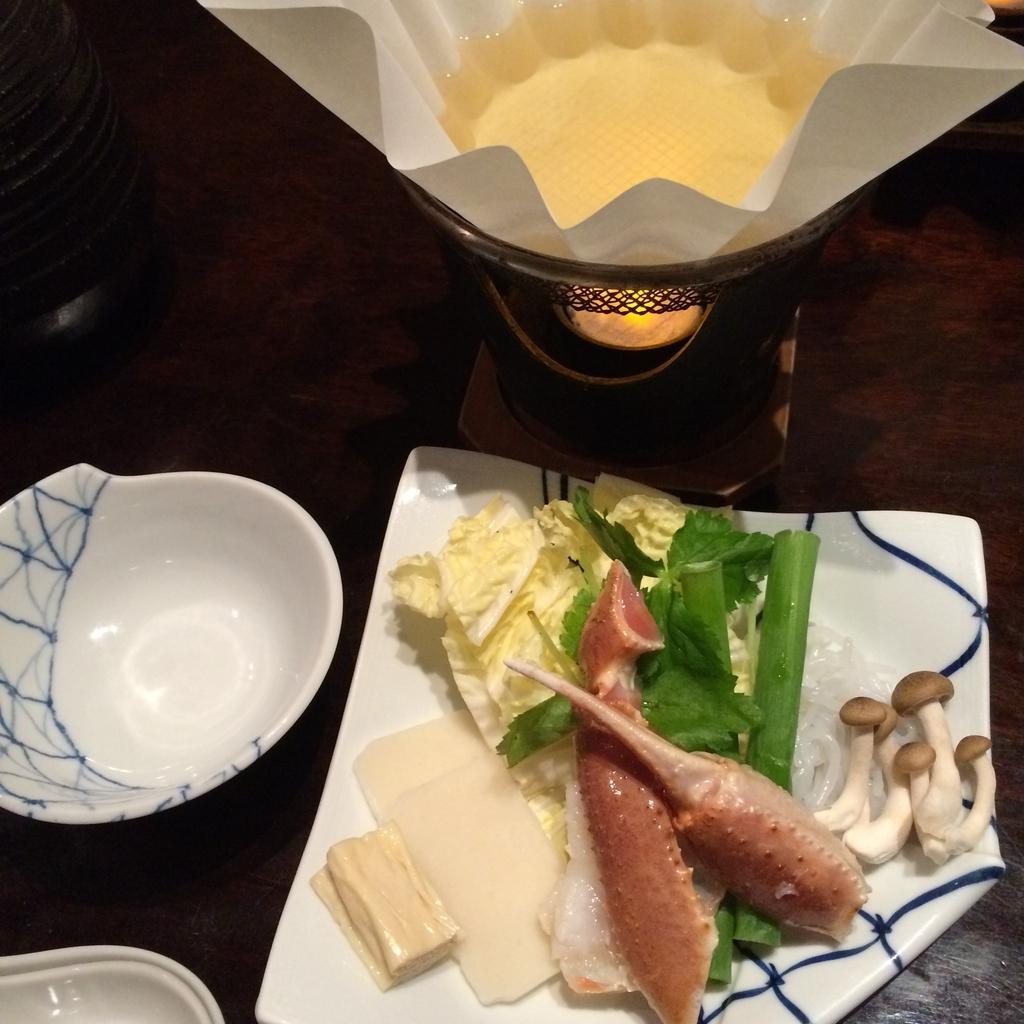 かに道楽西新宿5丁目店で食べた、かに会席「縁(ゆかり)」のかにすき鍋