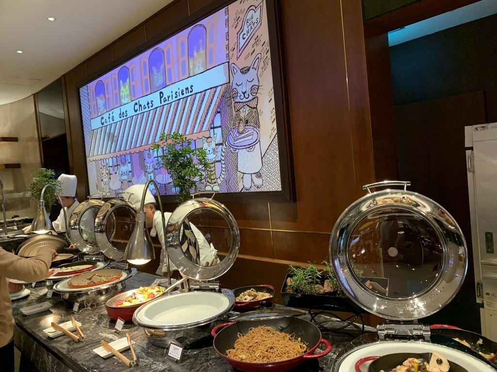 西新宿 ヒルトン東京 マーブルラウンジ「ストロベリー CATSコレクション」、ディナービュッフェのお料理