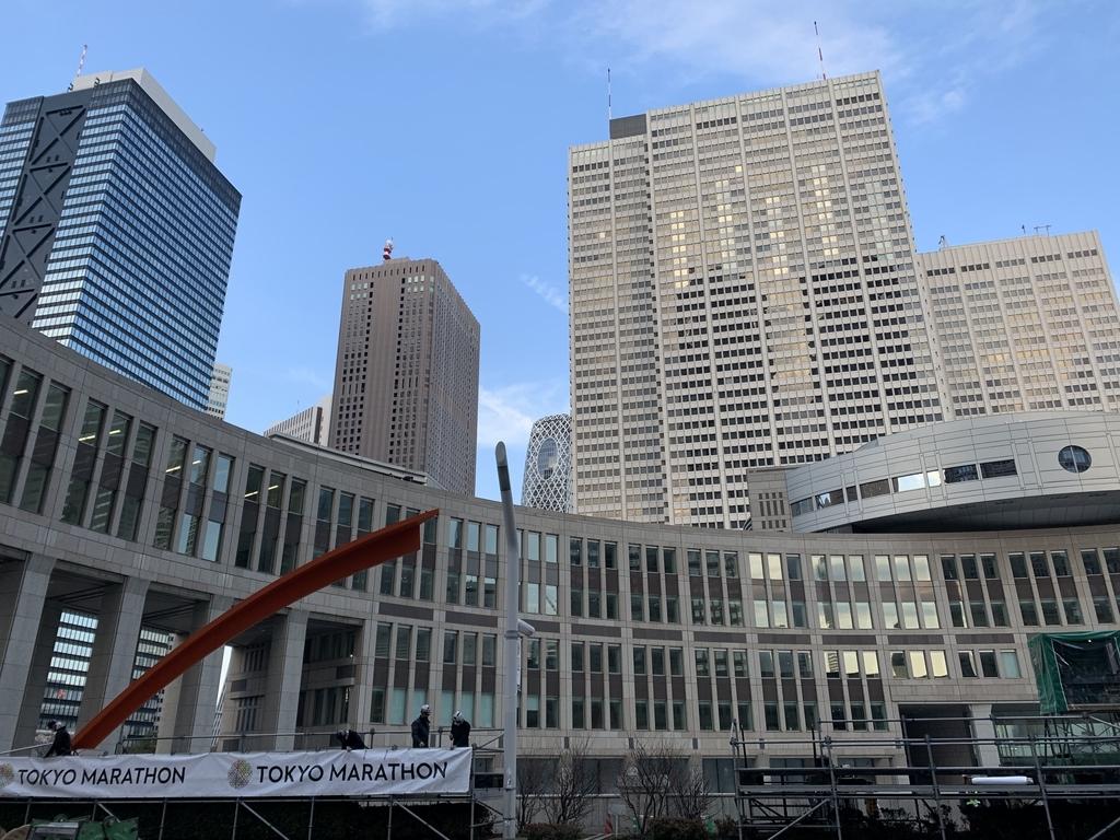 東京マラソン 2019 スタート地点都庁周辺