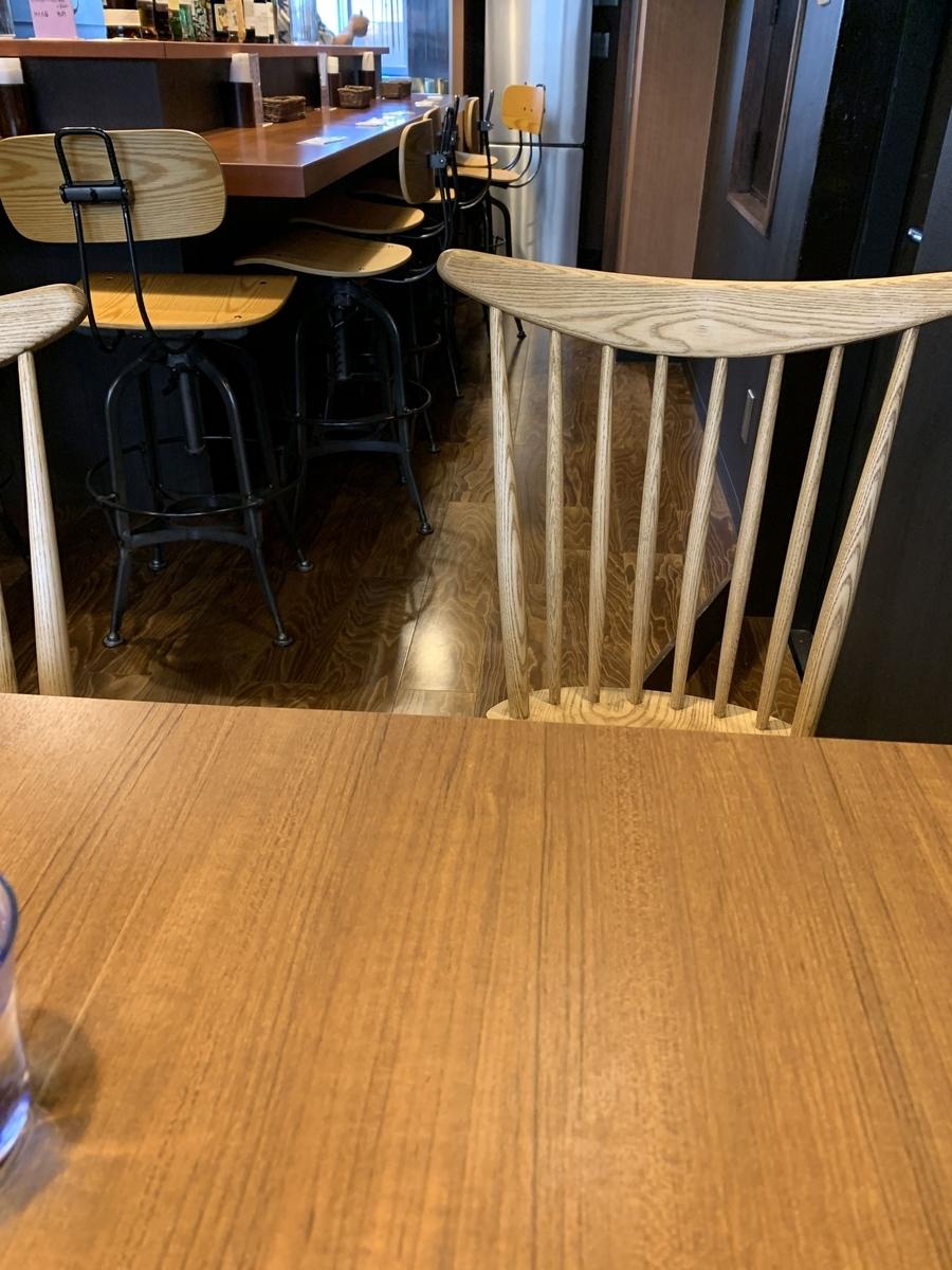 西新宿「スパイスバザール アチャカナ」の内観(テーブル席)