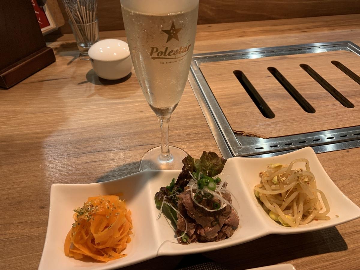 西新宿「ノーミートノーライフ5号店(NO MEAT, NO LIFE. 5go.)」アニバーサリーコースのタパス3種