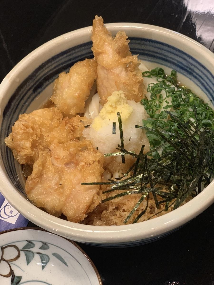西新宿「一滴八銭屋」ランチ(かしわ天ぶっかけ)