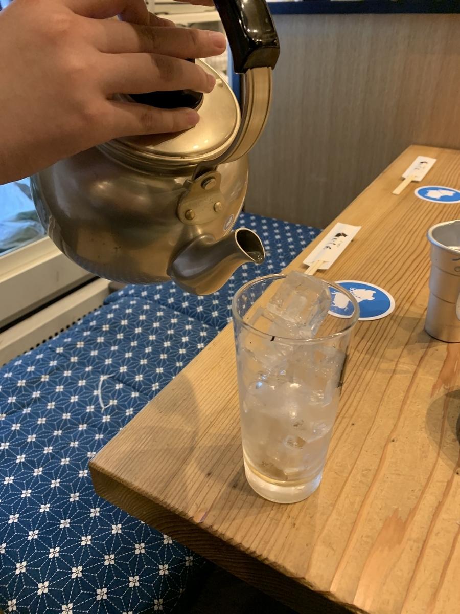 「坐もつ焼き いしん 新宿大ガード店」の焼酎【西新宿・居酒屋】