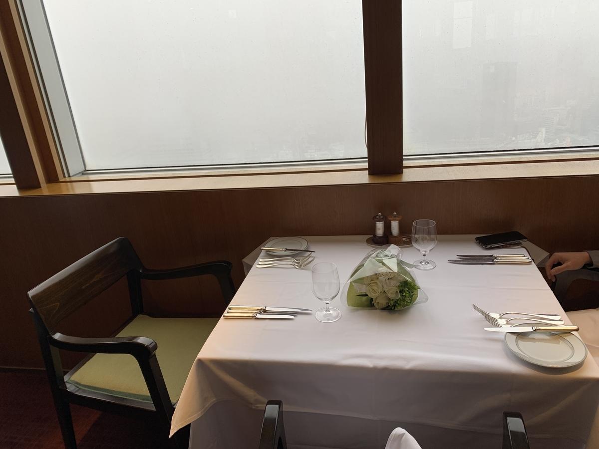 西新宿パークハイアット東京「ジランドール」の窓側席