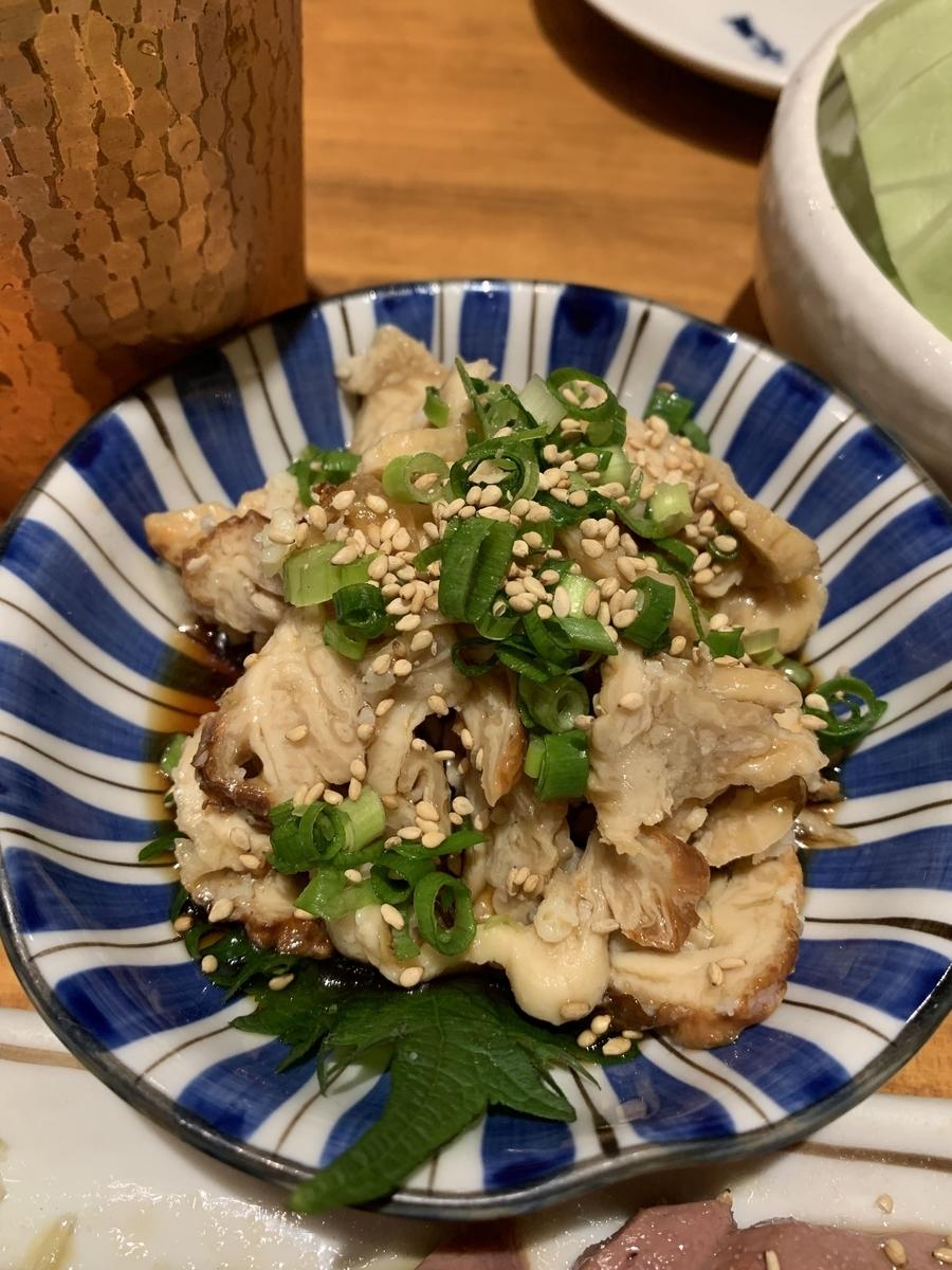 西新宿「ふじ屋」の鶏皮ポン酢
