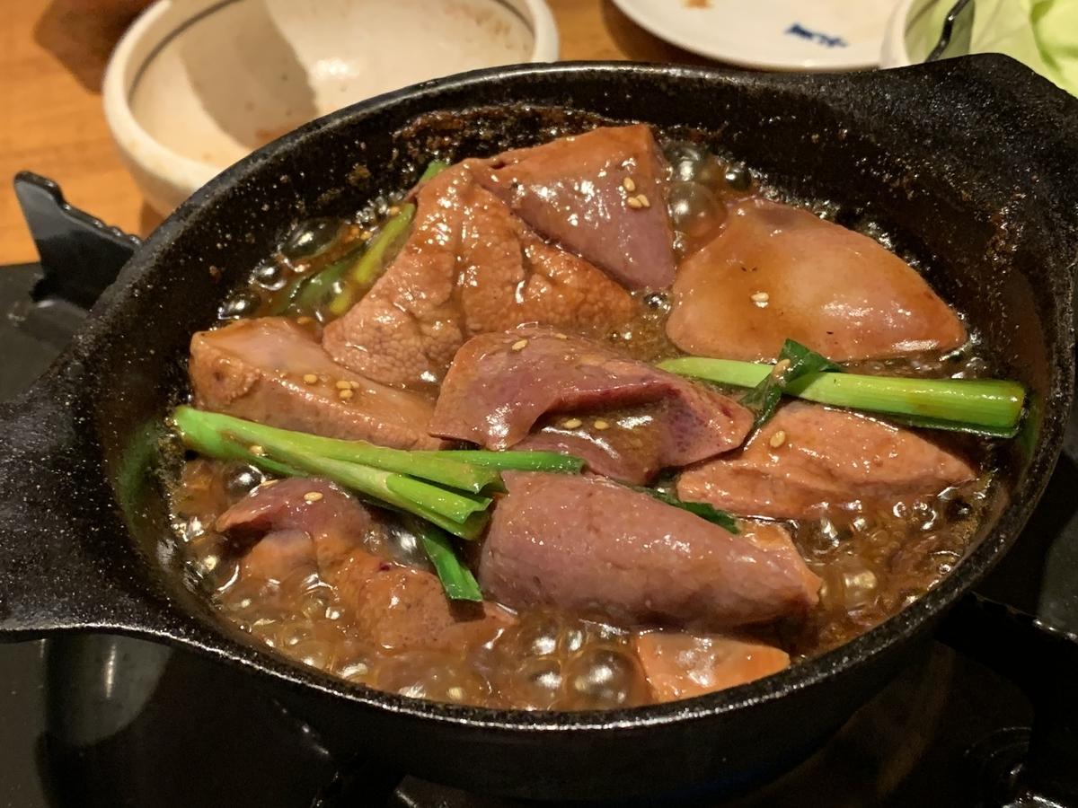 西新宿「ふじ屋」のレバ煮ラ(レバニラ)