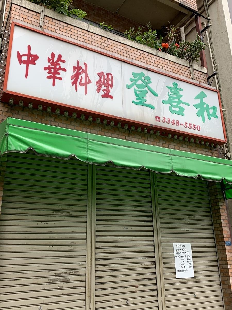 【西新宿の六丁目】「登喜和」の外観
