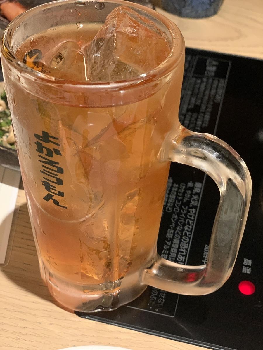 「博多もつ鍋おおやま 新宿小田急ハルク」の飲み放題ドリンク