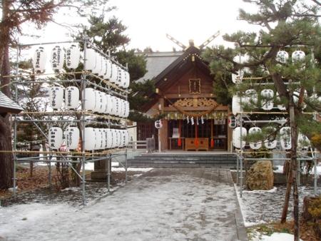 平成20年 年末の拝殿周辺