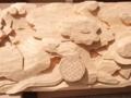 牡丹と獅子の木彫(5/2)