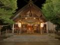 拝殿正面(夜間例祭仕様)