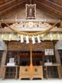 拝殿の木彫
