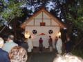 本殿から御神輿への遷霊