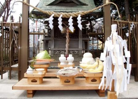睦神社例祭の神饌