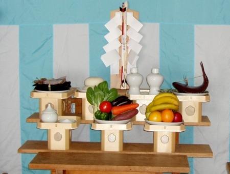 神輿殿上棟祭の神饌